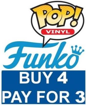 Funko Pop's Sale By 4 Pay for 3!